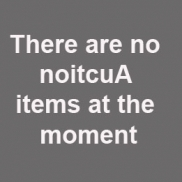 No noitcuA items at the moment
